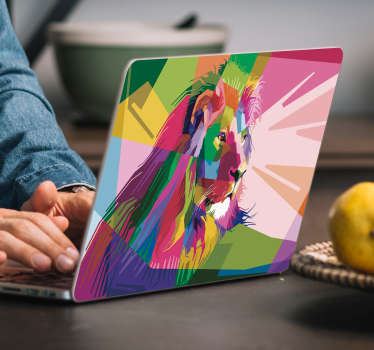 Tiger Kaleidoscope Laptop Sticker