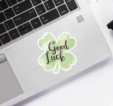Good Luck Clover Laptop Sticker
