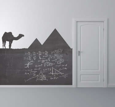 Blackboard Stickers - Eqypt themed designs with elements of pyramids and a camel.