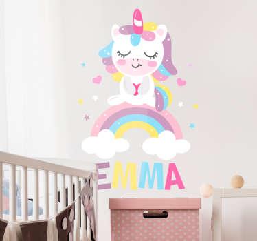 стикеры стены спящего единорога для ребенка
