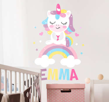 Autocolantes de ilustrações unicornio pastel