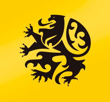 Laissez ce lion féroce aux couleurs de la Belgique embellir les murs de votre intérieur grâce à cet autocollant mural dessin !