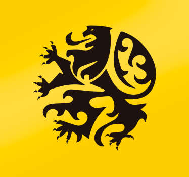 Muurstickers woonkamer Vlaamse leeuw logo