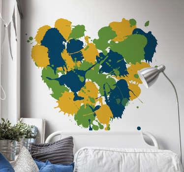 Adesivo com varios desenhos coração cores
