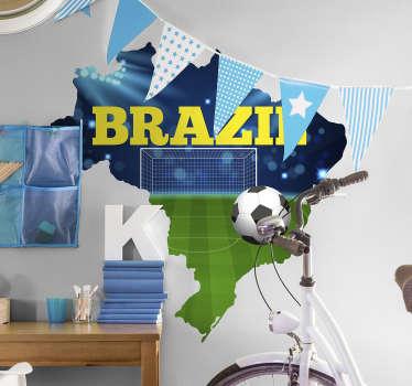 Autocolante com fotomurais mapa futebol