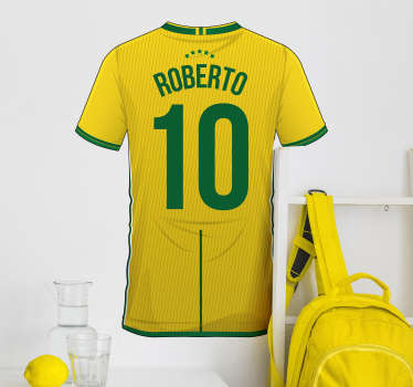 Brazil Shirt Customisable Sticker