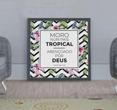 Autocolantes de letras de canções país tropical