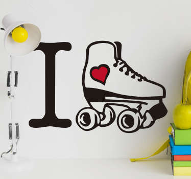 I Love Ice Skating Home Wall Sticker