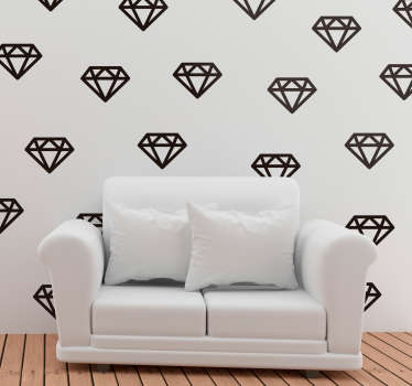 Decorative diamond blade wall art sticker for living room or bedroom space. Available in different colours and sizes. Easy to apply and self adhesive.