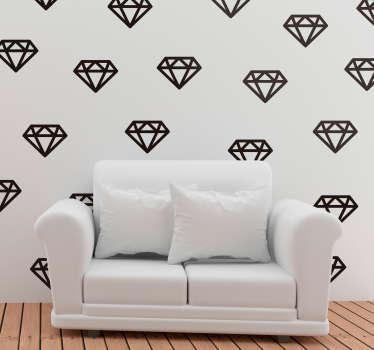 Muurstickers slaapkamer diamanten