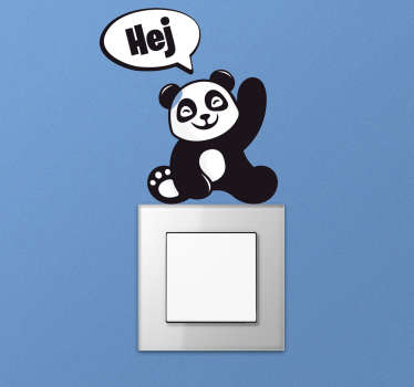 Naklejka na kontakt Panda na kontakt