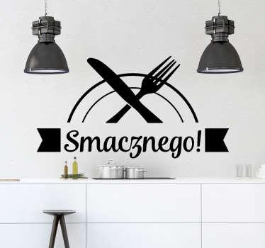 Naklejka na ścianę do kuchni Napis Smacznego