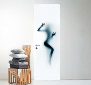Add some erotic decor to your home with this fantastic door sticker, depicting a woman pressed up against the door! Sign up for 10% off.