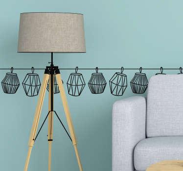 Wzór na ścianę Geometryczne lampiony