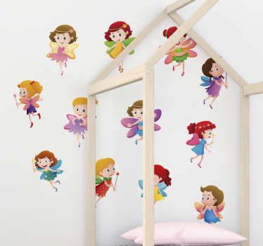 Decorate your bedroom with this fantastic wall art sticker, depicting an absolutely magical group of fairies! Available in 50 colours.