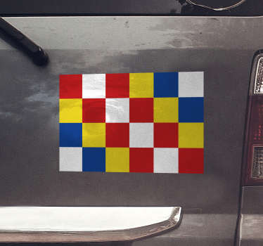 Autosticker vlag Antwerpen: Antwerpen logo sticker,  auto ruit sticker of auto bumper sticker, Antwerpen vlag sticker of vlag sticker Antwerpen!
