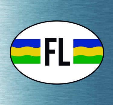 Autostickers vlag Flevoland
