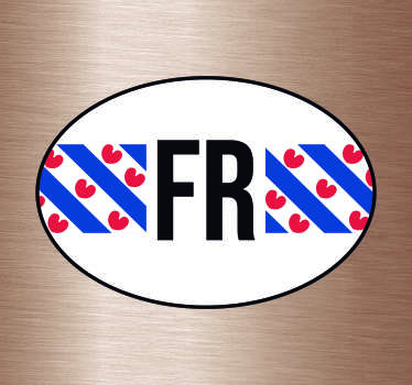 Vlag autostickers en Provincie vlag Autostickers  voor auto's ruiten en bumpers: Friesland vlag sticker en Friesland autostickers en friesland sticker.