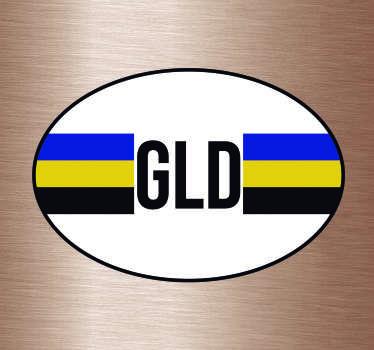 Provincie vlag Autostickers en vlag autostickers voor auto's bumpers en ruiten. Bijvoorbeeld: Gelderland vlag sticker en Gelderland autostickers!