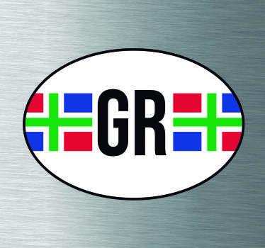 Auto stickers vlag Groningen