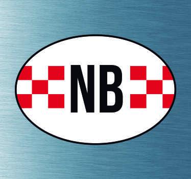 Provinciale vlag Autostickers voor autobumpers/autoruiten. Autostickers vlaggen: Noord Brabant sticker en Noord Brabant autostickers!