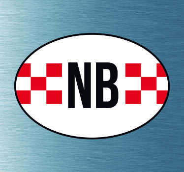 Auto stickers vlag Noord Brabant