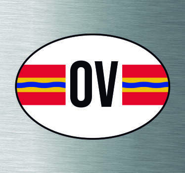 Provincie vlaggen Autostickers en autostickers vlaggen voor autobumpers/autoruiten: Overijssel vlag sticker en Overijssel autostickers!