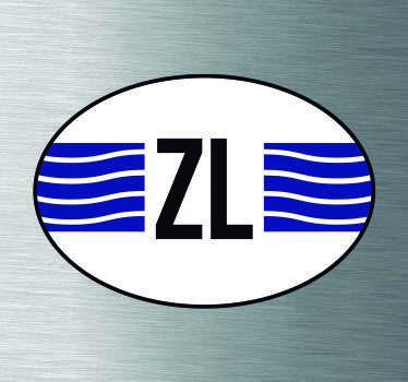 Auto stickers Vlag Zeeland