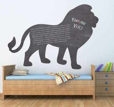 Vinilo pizarra silueta león