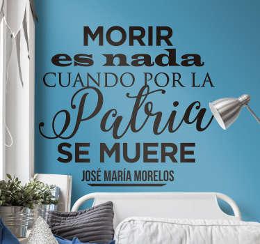 Vinilo pared Cita José María Morelos