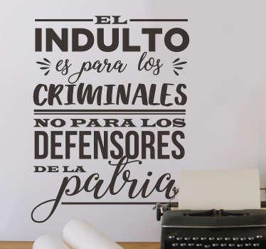 Vinilo pared Cita Miguel Hidalgo