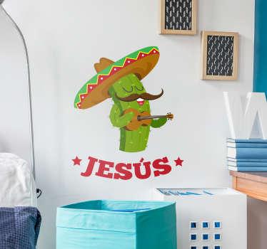 Vinilo pared Cactus infantil