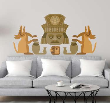 Vinilo pared Figura zapoteca