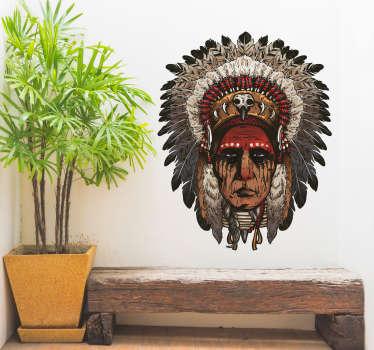 Vinilo pared Indio apache guerrero