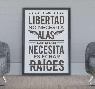Original pegatina adhesiva de estilo minimalista formada por una frase célebre del poeta mexicano Octavio Paz. Descuentos para nuevos usuarios.