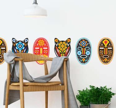 Cenefa decorativa Máscara Huichol