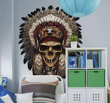 Sticker Objet Crâne d'Indien
