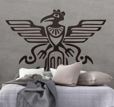 Vinilo pájaro Símbolo maya