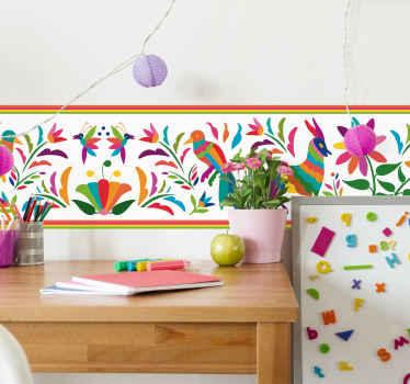 Naklejka z rysunkiem Kolorowe ornamenty