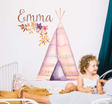 Decorate your bedroom with a customisable children´s sticker thanks to this fantastic piece of art, depicting a teepee! Discounts available.