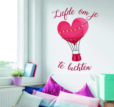 Muurstickers slaapkamer liefde om je hart te luchten