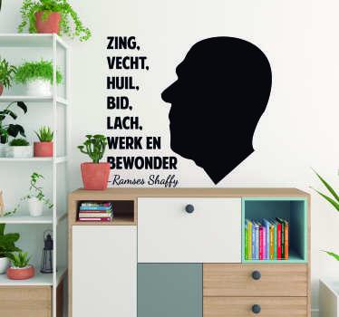Deze muursticker met het populaire liedje van Ramses Shaffy is de ideale wanddecoratie om de muren van jouw huis mee te versieren.