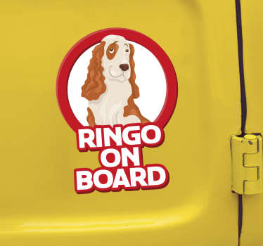 Show your love for the cocker spaniel with this fantastic pet on board sticker - Your dog should always be protected by passers by! Choose your size.