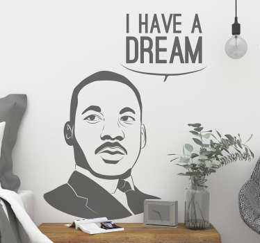 I Have a Dream Character Wall Sticker