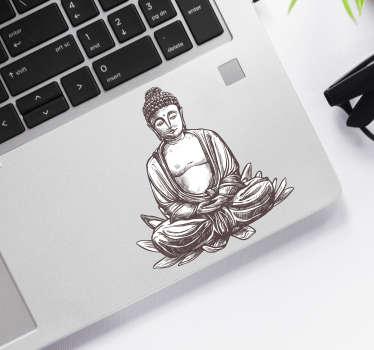 Naklejka na laptopa Medytujący Budda