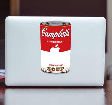 Campbells-keitto-kannettavan tarra