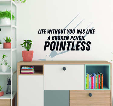 Decorate your home with a fantastic quote from the magic men behind Blackadder, thanks to this superb TV wall sticker! +10,000 satisfied customers.