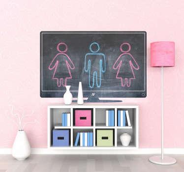 Flat Screen Television Blackboard Sticker