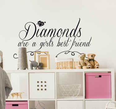 Muurstickers slaapkamer Marilyn Monroe diamant