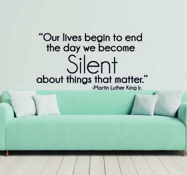 Martin Luther King Silence Quote Sticker